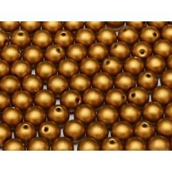 Round Beads  6 mm  Metallic  Brass Gold - 25 pcs