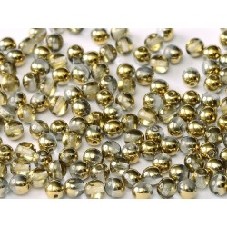 Round Beads  8 mm Crystal Amber - 20 pcs