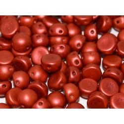 Cabochon Doppio Foro 6 mm Lava Red  -  10 pz