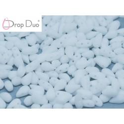 DropDuo 3 x 6 mm  Chalk White Matted  -  40 Pz