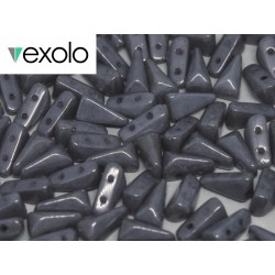 VEXOLO®  Beads 5x8 mm    Opaque Grey  Luster   - 40 pcs