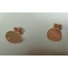 Perno in  Argento 925  Tondo Piatto Rodiato Dorato Rosa 10 mm con Farfalline   - 2 pz