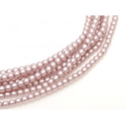 Glass Pearls  4 mm Pink Satin - 50 pcs