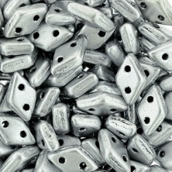 CzechMates Diamond  4 x 6,5 mm  Matte Metallic Silver  - 5 g