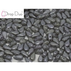 DropDuo 3 x 6 mm  Opaque Grey Luster   -  40 Pz
