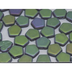 Pego Beads  10 mm  Crystal Vitrail  Full Matted  -  5 pz