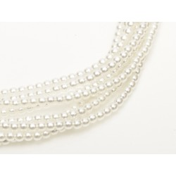 Glass Pearls  6 mm Bright White - 25 pcs