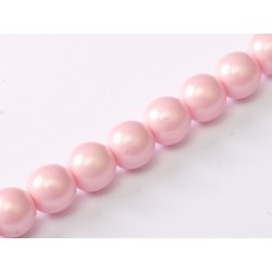 Perle Cerate in Vetro  8 mm Pastel Rose -  25  Pz