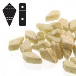 Kite Beads  9 x 5 mm Silver Splash Chalk Opaque  - 5 g