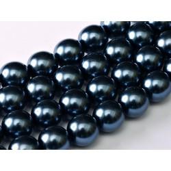 Glass Pearls  8 mm Montana - 25 pcs