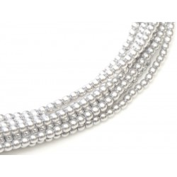 Glass Pearls  8 mm Platinum  - 25 pcs