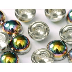 Dome Beads 14x8 mm Crystal Vitrail  - 5  Pz