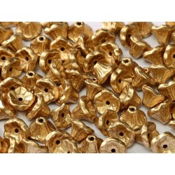 Flower Cup Beads  7x5 mm Aztec Gold    - 25 pcs