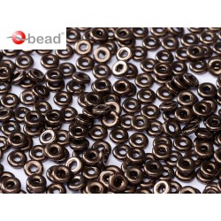O Bead  4 mm Jet Bronze-  5  g