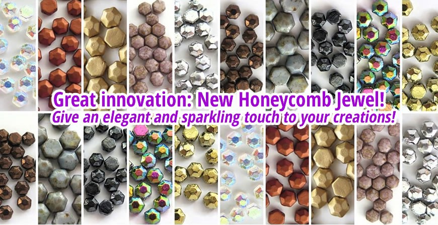 Honeycomb - Give an elegant and sparkling touch to your creations