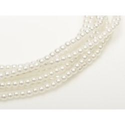 Glass Pearls 3 mm Pale White - 50 pcs