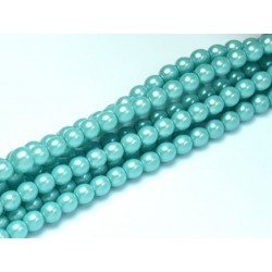 Perle Cerate in Vetro 4 mm Pearl Shell Catalina Blue - 50 Pz