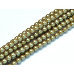 Glass Pearls  4 mm Pearl Shell Topaz - 50 pcs
