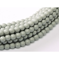 Glass Pearls 4 mm Grey Mist - 50 pcs