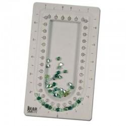 """BeadSmith Mini Bead Board  4 """"x 6.75 """"  Grey - 1 pc"""