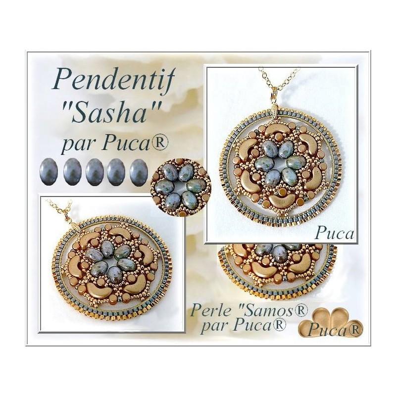 SAMOS\u00ae PAR PUCA\u00ae 5x7 mm Opaque Sapphire Bronze Two Hole Cabochon. 40 Pcs
