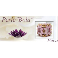 Bola Pendant  Kit  By Puca  Rose version  (material kit)