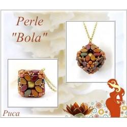 Kit Pendente Bola By Puca  versione Yellow Gold Metallic Iris  (kit materiali)