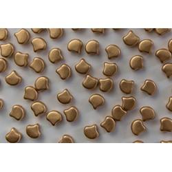 Ginkgo Leaf Bead  7,5 x 7,5 mm  Matte Metallic  Flax- 5 g
