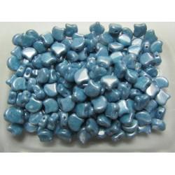 Ginkgo Leaf Bead  7,5 x 7,5 mm  Luster Metallic Blue - 5 g