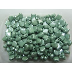 Ginkgo Leaf Bead  7,5 x 7,5 mm  Luster Metallic Green - 5 g