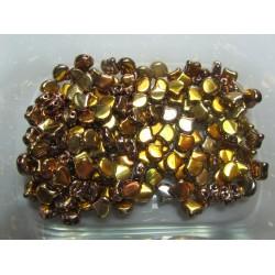Ginkgo Leaf Bead  7,5 x 7,5 mm  Crystal Full Capri - 5 g