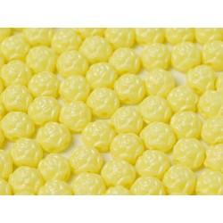 Cabochon Doppio Foro Rosetta 6 mm Pastel Yellow - 10 pz
