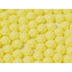 Rosetta 2-hole Cabochon 6 mm Pastel Yellow - 10 pcs