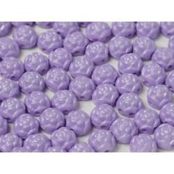 Cabochon Doppio Foro Rosetta 6 mm Pastel Purple - 10 pz