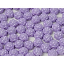Rosetta 2-hole Cabochon 6 mm Pastel Purple - 10 pcs