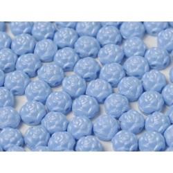 Cabochon Doppio Foro Rosetta 6 mm Pastel Blue - 10 pz