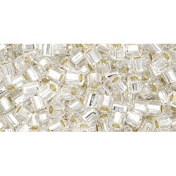 Toho Hexagon 8/0 Silver-Lined Crystal - 10 g