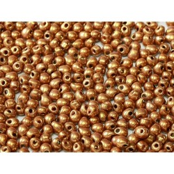 Miyuki Drops 3,4 mm White Opaque Gold Luster 10 g