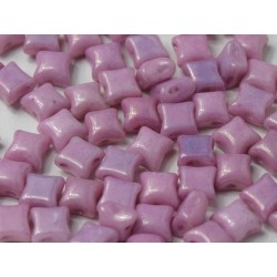 Wibeduo®  8 x 8  mm Opaque Rose Luster -  25 Pz