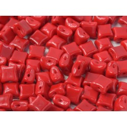Wibeduo®  8 x 8  mm Opaque Red -  20 Pz