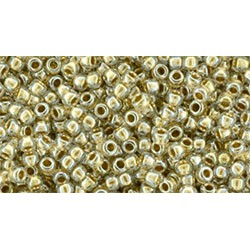 Toho Round 15/0 Gold-Lined Crystal - 10 g