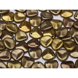 Rose Petals 8x7 mm Metallic Mix - 40 pcs