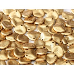 Rose Petals  8x7 mm Matte Metallic Gold -  40 pcs