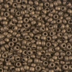 Miyuki Round Seed Beads  11/0 Matte Metallic Dark Bronze   - 10 g