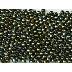 Round Beads  3 mm Iris Brown - 50 pcs