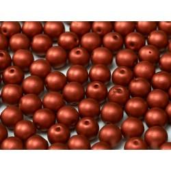 Perle Tonde in Vetro di Boemia 4 mm Lava Red - 50 Pz