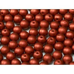 Round Beads 4 mm Lava Red - 50 pcs