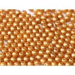 Perle Tonde in Vetro di Boemia 4 mm Pastel Amber - 50 Pz