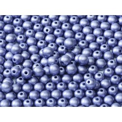 Round Glass Beads 4 mm Metallic Violet - 50 pcs