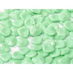 Rose Petals 8x7 mm Opaque Light Green Turquoise - 40 pcs